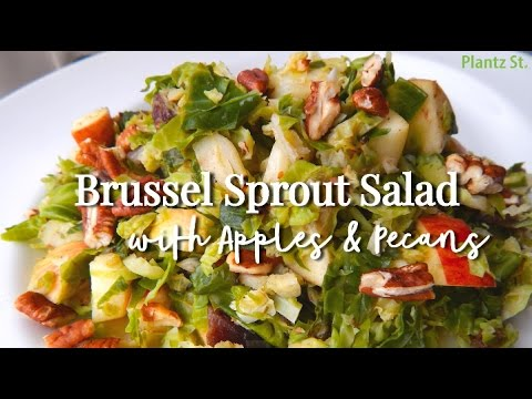 Brussel Sprout Salad with Apples & Pecans