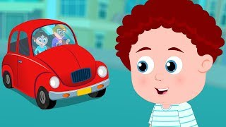Schoolies: Daddy'S Red Car Song | Nursery Rhymes & Children Songs | Cartoons By Kids Channel