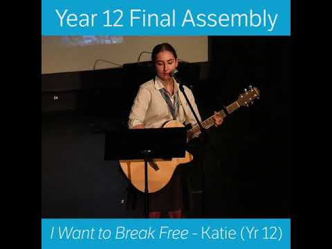 Final Year 12 Assembly - Katie Performance