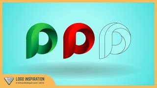Logo Inspiration | Creating P Logo With Circle | Illustrator Tutorial