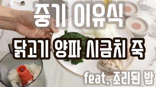 베이비 브레짜 이유식 마스터기 - 닭고기양파시금치 죽 …
