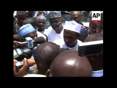 Download One of the three front-runners Katsina Governor Umaru Yar'Adua, casts his vote