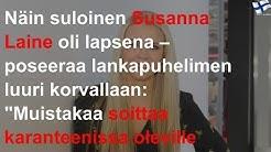 Näin suloinen Susanna Laine oli lapsena