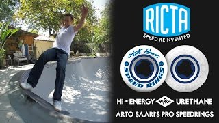 Arto Saari Skates his Pool with Ricta Speedrings