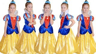 Five little babies jumping on the bed for Disney Princess Good song for children