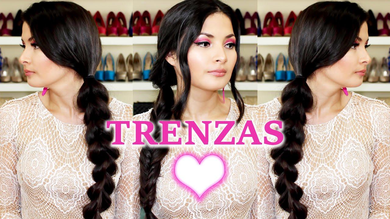 Peinados con trenzas faciles y bonitos para cabello - Peinados faciles y bonitos ...