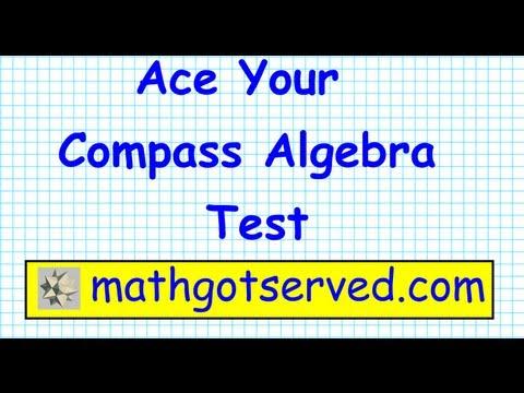 Compass College Algebra Math Test Prep  Part I  Placement test ACT community college