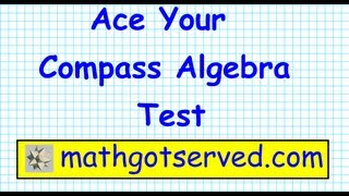 Compass College Algebra Math Test Prep  Part I  Placement test ACT community college