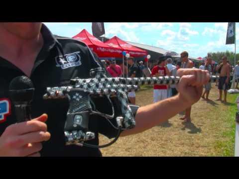 $5001 Bling Gun - Swarovski Crystal Ego9 Paintball Marker by Planet Eclipse