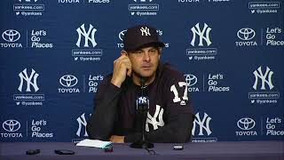 Aaron Boone on the Yankees' 2-1 win over the Angels