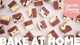 Cookies & Cream Fudge Recipe | Quick Fudge | Bake with Sally | Cupcake Jemma