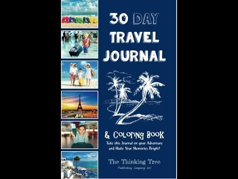 30 Day Travel Journal & Coloring Book
