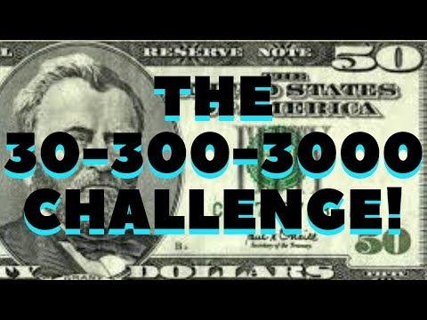 HOW TO MAKE MONEY ONLINE FAST TODAY! THE 30-300-3000 CHALLENGE!