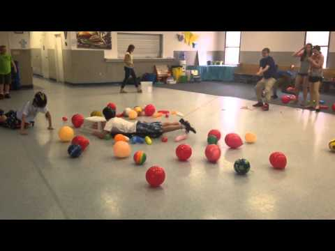 JRLC Confirmation Kids do Hungry, Hungry Hippos
