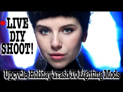 LIVE DIY! Upcycle Holiday Trash to Lighting Modifiers! Featuring Irina
