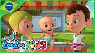 Olha o Bolinho (Hot Cross Buns) - Música Infantil | LooLoo Kids Português
