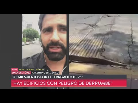 Así vivió un argentino el terremoto en México