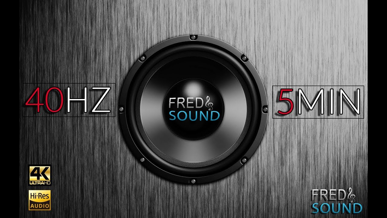 40 hz test tone by fred sound subwoofer adjustment