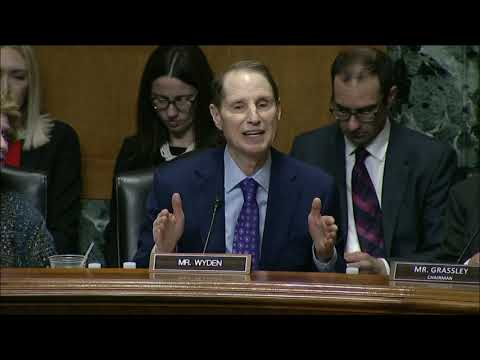 Wyden Statement At Finance Committee Hearing On Drug Prices And Pharmacy Benefit Managers