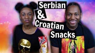 Americans Try European Snacks | Serbia + Croatia | Tashalala