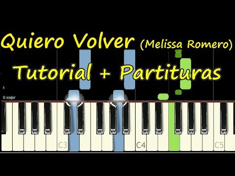 QUIERO VOLVER Melissa Romero Piano Tutorial Cover Facil + Partitura PDF Sheet Music Easy Midi thumbnail