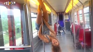 Paaldansen in de metro? - CELEBRITY POLE DANCING