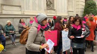 Padova, la protesta delle donne contro il disegno di legge Pillon