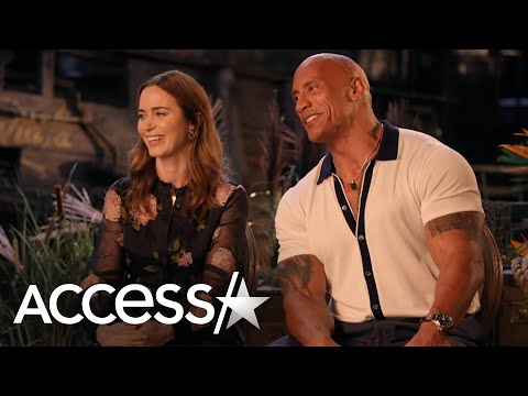 Emily Blunt & Dwayne Johnson Joke About Kiss Prep In 'Jungle Cruise'