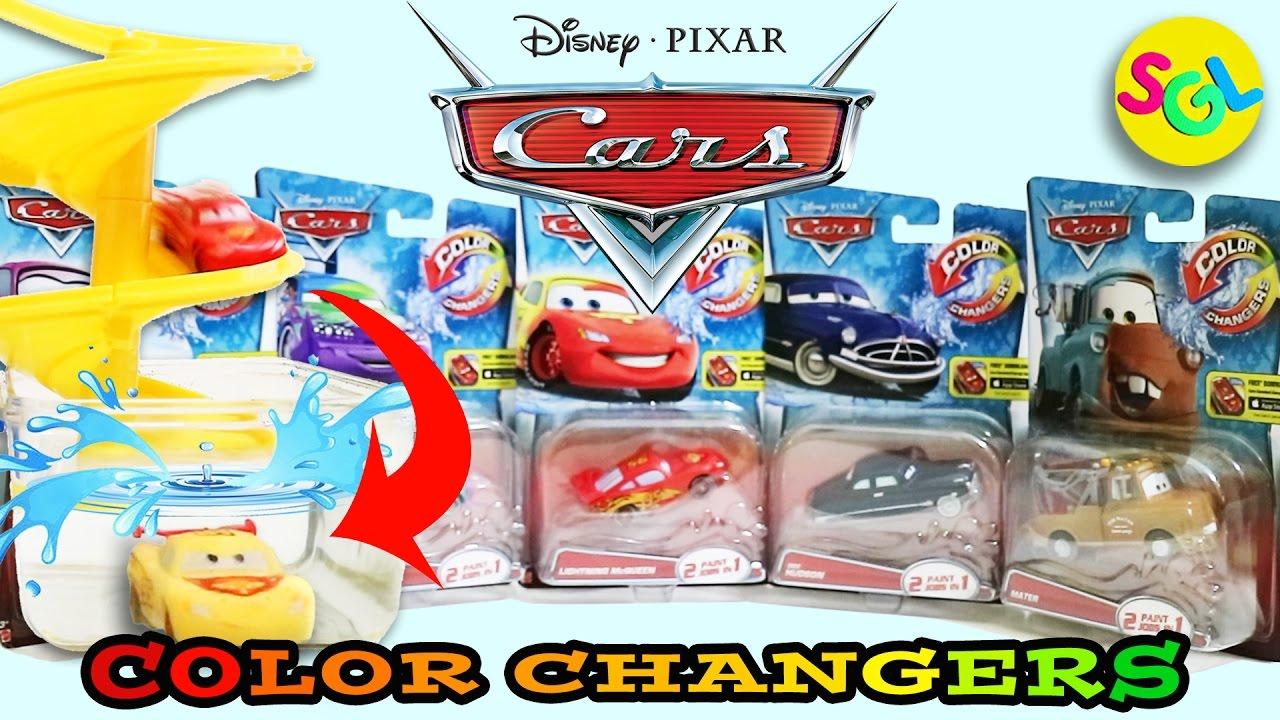 Cars Color Changers: Disney Pixar Cars Color Changers Toys Unboxing