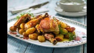 Куриные Бедрышки, Запеченные в Духовке с Картошкой, Очень Вкусный и Быстрый Ужин!