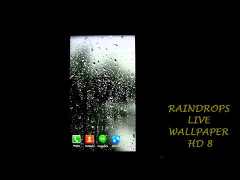 Watch an amazing Raindrops Live Wallpaper with some great raindrops falling down on your screen, in a rainy day, with raindrops falling down right in front ...