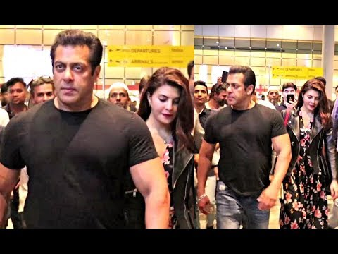 Salman Khan With Jacqueline Fernandez Spotted At Airport