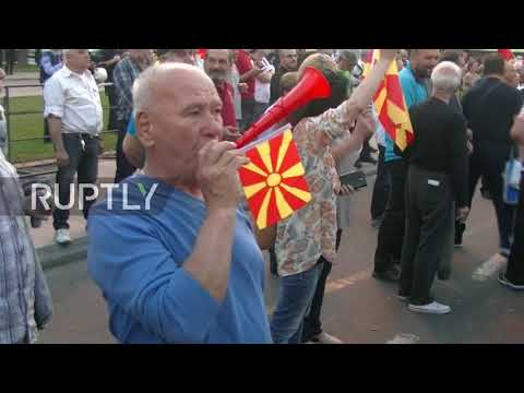 Macedonia: Hundreds rally against making Albanian an official language