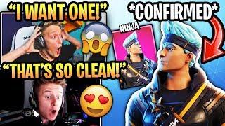 "Streamers React to *NEW* Personalized ""NINJA SKIN"" Coming to Fortnite Season 10!? (HIS OWN SKIN)"