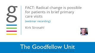 Goodfellow Unit Webinar: Focussed Acceptance and Commitment Therapy with Kirk Strosahl