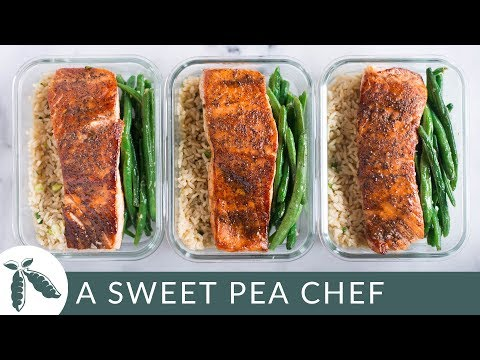 How To Meal Prep - Salmon  (4 Meals/Under $6) | How To Meal Prep | A Sweet Pea Chef
