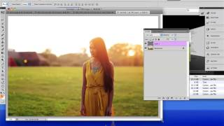 Adding SUNLIGHT to photos - Photoshop Tutorial