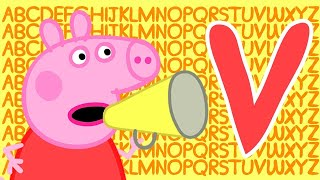 Peppa Pig 🔠 Letter V | Learn the Alphabet with Peppa Pig | ABC Letter Boxes | Learn with Peppa Pig