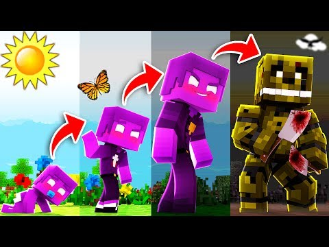 Minecraft FNAF - If PURPLE GUY had a REALISTIC Life Span