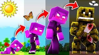 Minecraft FNAF - If PURPLE GUY had a REALISTIC Life Span