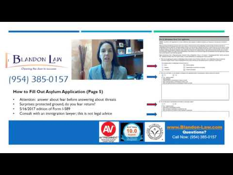 How To Complete The Us Asylum Application Form I 589 Instructions