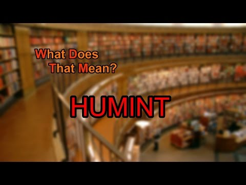 What does HUMINT mean?