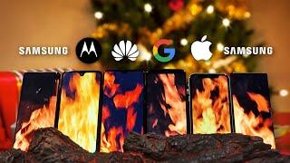 Smartphone yule log