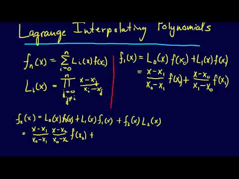 5.2.5-Curve Fitting: Lagrange Interpolating Polynomials--Quadratic Interpolation