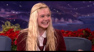Elle Fanning Interview Part 01 - Conan on TBS