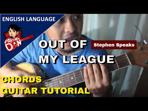 Guitar Tutorial Out Of My League Chords Stephen Speaks Youtube