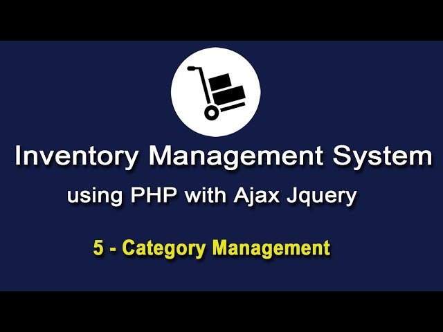 Inventory System using PHP with Ajax JQuery - Category Management