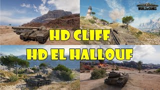 World of Tanks - PURE Gameplay (HD Cliff | T-62A & HD El Hallouf | FV215b)
