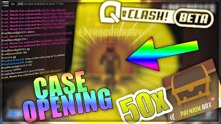 50 PREMIUM BOX OPENING - SO MANY YELLOWS - ROBLOX Q Clash Case Opening