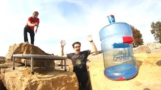 Ultimate GIANT Bottle Flipping Trick Shots 2!
